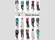Kohls Spring Capsule Wardrobe with Mix and Match Outfits
