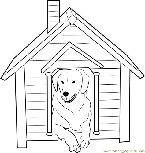 dog house  dog  coloring page  dog house coloring pages coloringpagescom