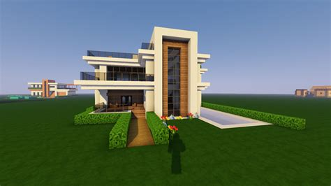 Modernes Haus Minecraft Command by One Of My Recent Attempts At A Minecraft Modern House