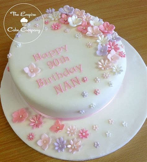 simple flower cake  birthday google search mil