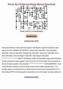 Alinco Dj 175 Service Repair Manual Download By Meganmeier