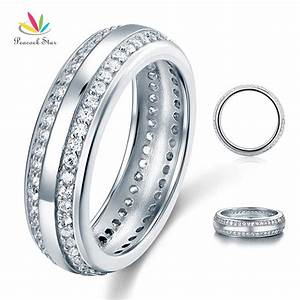 aliexpresscom buy wholesale created diamond women solid With solid silver wedding rings