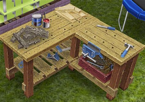 quick practice   neighbors woodworking bench sims