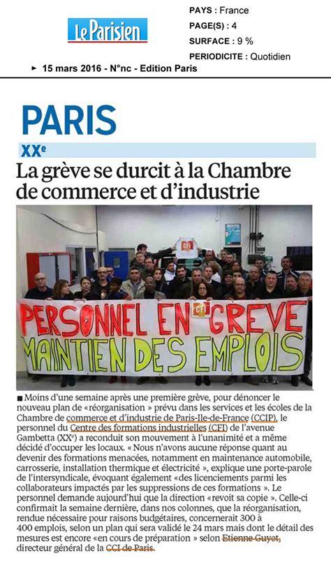 le parisien grève au centre des formalités industrielles