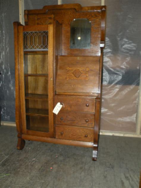 secretary to the cabinet antique oak drop front secretary desk side by side
