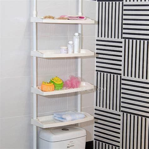 bathroom accessory ideas white plastic assemblable bathroom shelves toilet