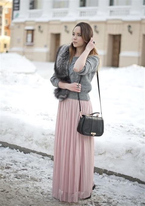 style  maxi skirt  winter  trendy girls