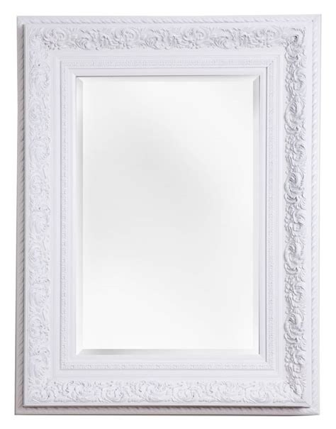 genova spiegel mit wei 223 em barock rahmen kunstspiegel de