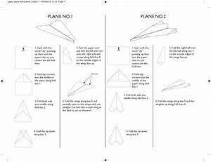 Paper Planes Instructions