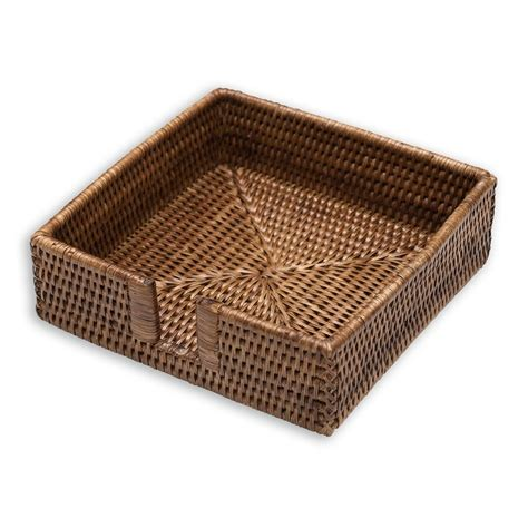 napkin holders napkin holder rattan luncheon caddy caspari hl01