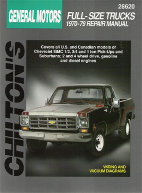 car repair manuals online free 1996 gmc suburban 1500 parking system 1970 1979 chevrolet gmc 1 2 3 4 1 ton pick ups and suburban chilton manual