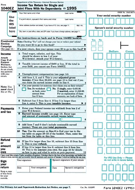 the irs 1040ez tax form modeled as a spreadsheet the irs 1040ez tax form modeled as a spreadsheet
