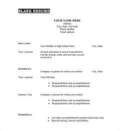 printable blank resume templates for free 40 blank resume templates free sles exles