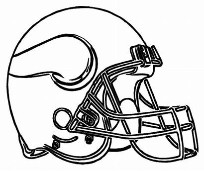 Coloring Pages Football College Logos Helmets Bowl