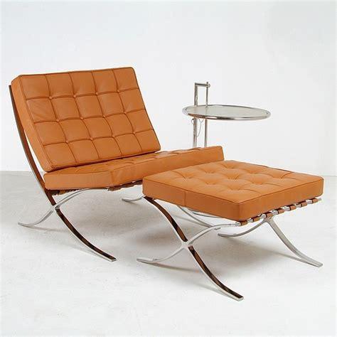 barcelona chair and ottoman set modern armchairs and