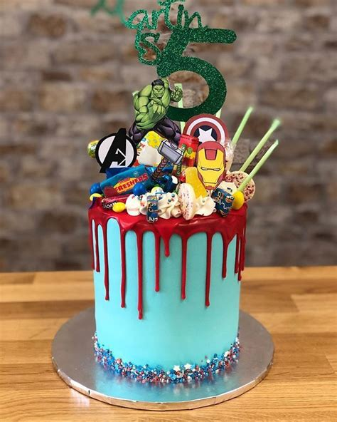 Marvel comic cake includes captian america spidermad the hulk and wolverine scratching threw the cake. Pin by Michelle Mercado on Birthday ideas in 2020 ...