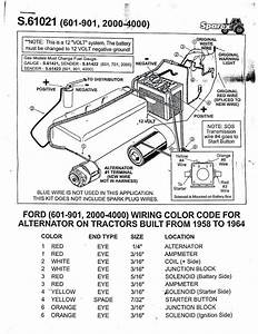 Ford Tractor Wiring Diagram 4000 Tractors 1963 2000 Parts