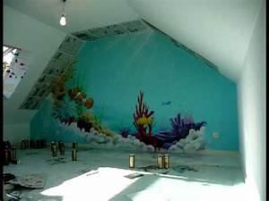 aerosoleil fresque deco graff chambre d39enfant theme With deco murale chambre garcon