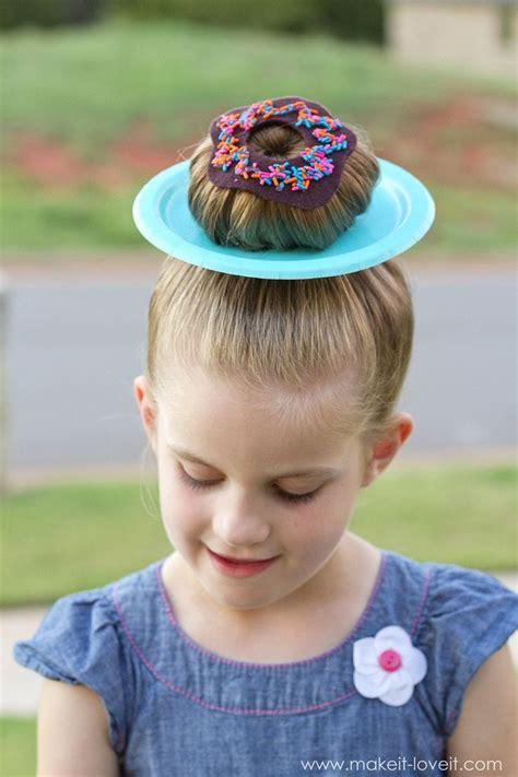 wacky hair donut hair  clever ideas  wacky hair day