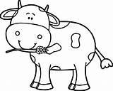 Cow Simple Drawing Getdrawings sketch template