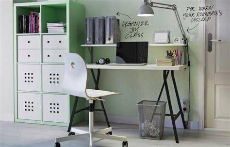 bureau etudiant chambre étudiant idées de rangements originales