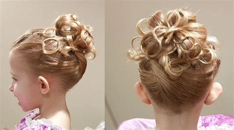 2019 popular updo hairstyles for little girl with short hair