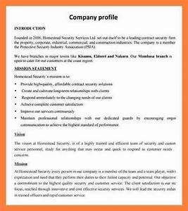 6 sample company profile doc company letterhead With company profile template for small business