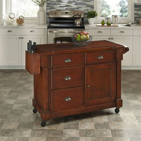 cherry kitchen islands home styles the aspen rustic cherry kitchen cart with