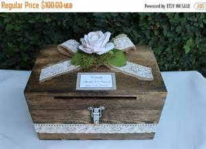 on sale wedding card box cardholder wooden lockable cardholder box box with slot rustic - Rustic Wedding Card Holder