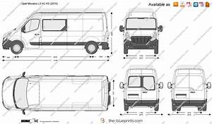 Opel Movano L3 H2 H3 Vector Drawing