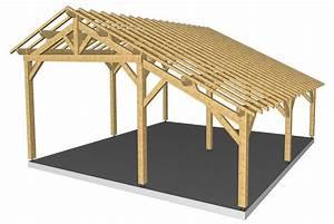 Charpente Traditionnelle Bois En Kit : charpente bois 2 pentes zola sellerie ~ Premium-room.com Idées de Décoration