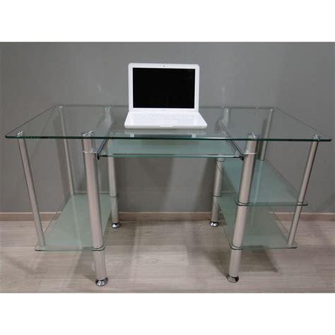 bureau en verre trempé bureau adulte en verre trempé et opaque 5 achat