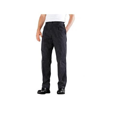 vetement de cuisine bragard pantalon de cuisine à plis noir é funandoc de bragard