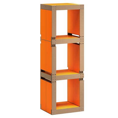 bureau vituel etagère de bureau design orange structure ou bois