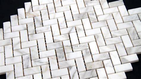 white marble mosaic herringbone white carrara marble mosaic tiledaily