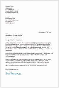 Bewerbungsschreiben augenoptiker augenoptikerin for Opel initiativbewerbung