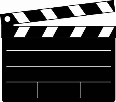 Clapper Clipart Clip Movies Clker Board Vector