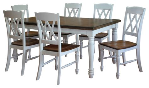 monarch rectangular dining table and 6 x back