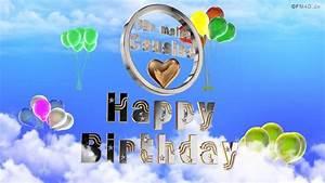 Geburtstagslied, U2606, U266a, F, U00fcr, Meine, Cousine, Happy, Birthday, To, You