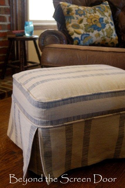 slipcover for ottoman how to make 17 best ideas about ottoman slipcover on do