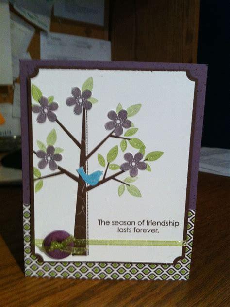simple card  stampin  season  friendship set
