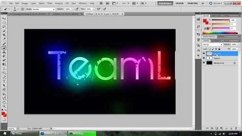 paint net and photoshop cool color text effects youtube