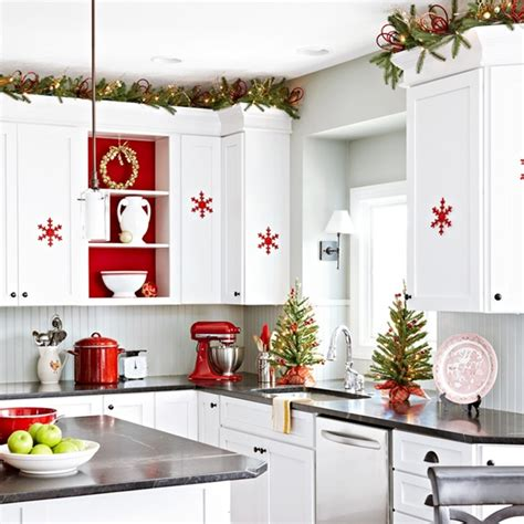red  white scandinavian christmas town country living