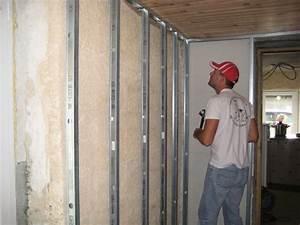Comment Isoler Un Mur En Pierre Humide : comment poser du placoplatre ~ Premium-room.com Idées de Décoration