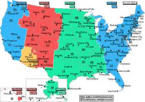 USA Map with Time Zones