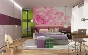 comment decorer sa chambre idees magnifiques en photos With chambre bébé design avec coeur fleurs artificielles