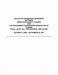 Fillable Online dol Collective bargaining agreement ...