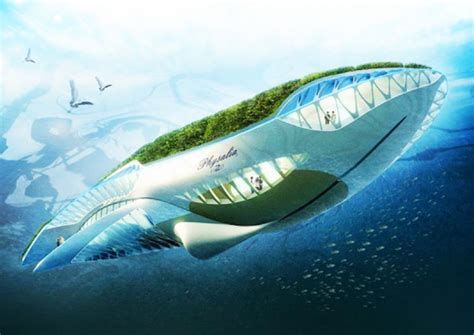 Floating Boat Garden Design by Biomimicry In Buildings 6 Animal Shaped Architectural