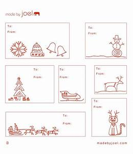 made by joel holiday gift tag templates With how to print on gift tags