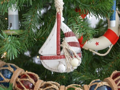 buy wooden rustic red sailboat model christmas tree